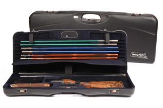 Negrini Shotgun Cases - 1652LR/5040 Tube Set high rib shotgun case