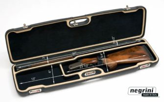 Negrini Shotgun Cases - 1607PPL/5011 - Interior Full Italian Leather Blaser F3