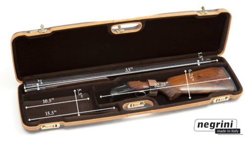 Negrini Shotgun Cases - 1602LX/4707 interior dimensions breakdown shotgun case