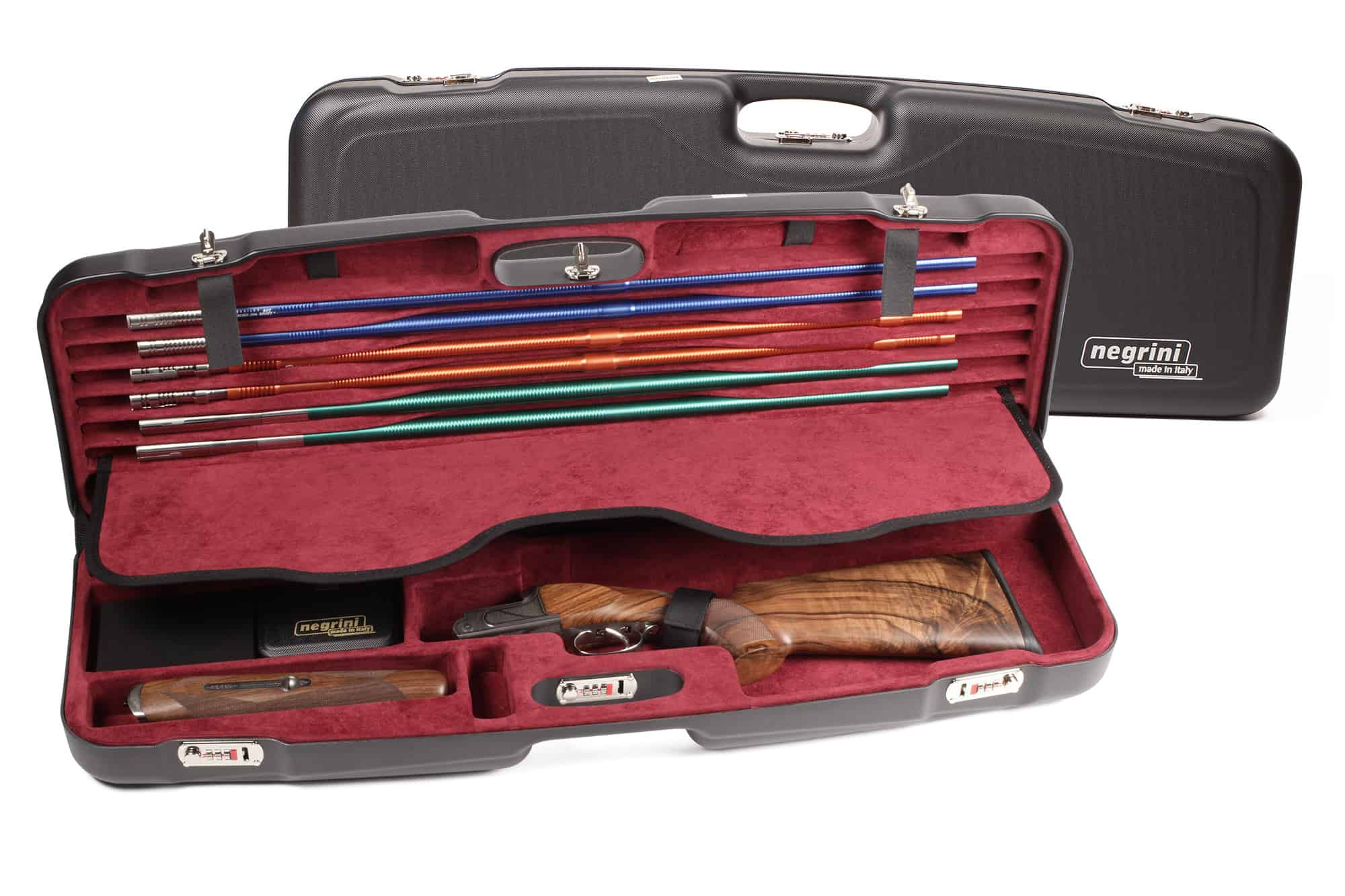Negrini Shotgun Cases - 1622LR-TS/5227 - High Rib Shotgun case + Tube Sets
