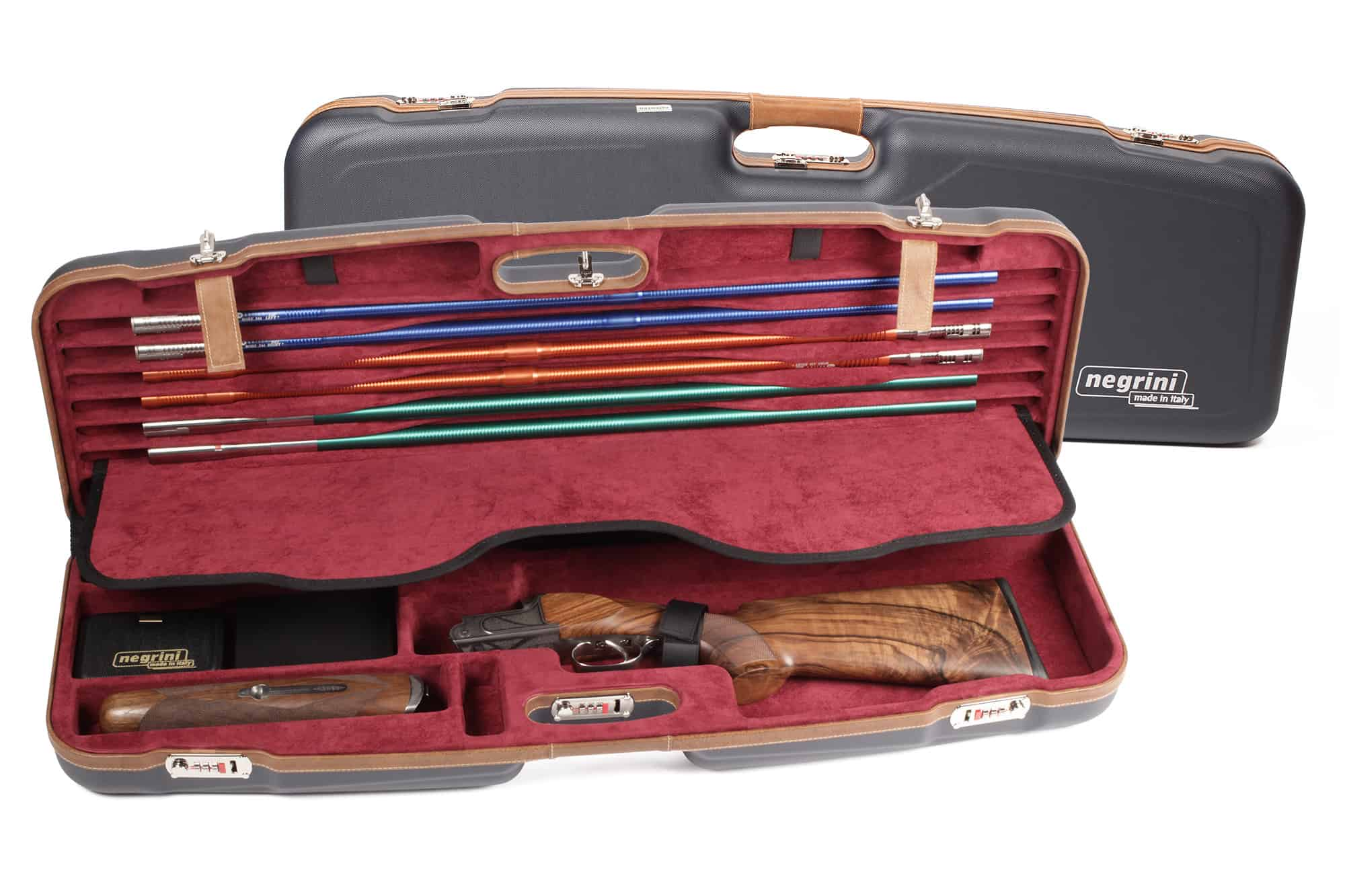 Negrini Gun Shotgun - 1622LX-TS/5228 - High Rib Shotgun case + Tube Sets