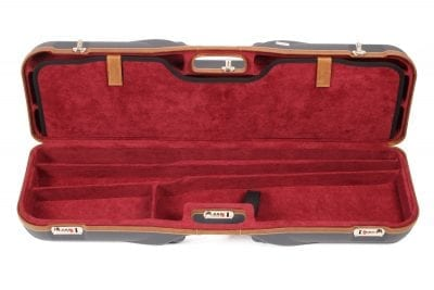 Negrini Gun Cases - 1646LX-4C - Leather trim four barrel shotgun case