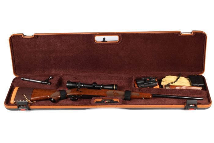 Negrini Rifle Case - 1619LX/5287 Single Scoped Rifle Hard Case Winchester Rifle interior