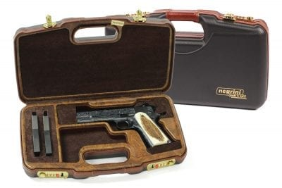 Negrini Luxury 1911 Handgun Case - 2018SLX/WOOD