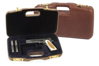 Negrini Handgun Cases - 2018SPL 1911 Leather handgun case