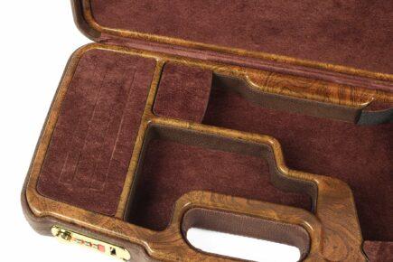 Negrini 2018SPL-WOOD/5386 1911 gun case interior close up