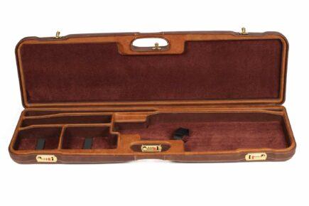 Negrini Leather Trap Single high rib shotgun case - 1657PPL/5193 interior