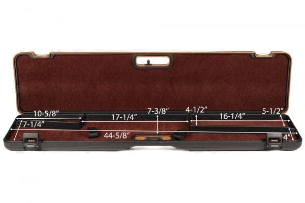 Negrini 1619LUNG/5517 Compact Bolt Action Rifle Case interior dimensions
