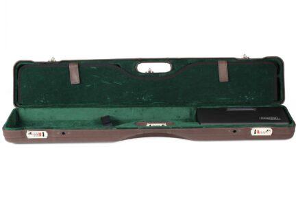 Negrini Luxury Italian Leather UNICASE - Negrini OU/SXS/Auto/Pump UNICASE Luxury Leather Travel Shotgun Case - interior bottom