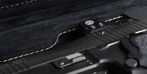 SIG SAUER® Luxury Handgun Cases - hand stitched interior callout